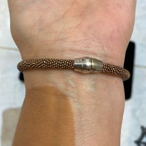 Silver 925 Rose GOLD PLATED ITALY BRACELET